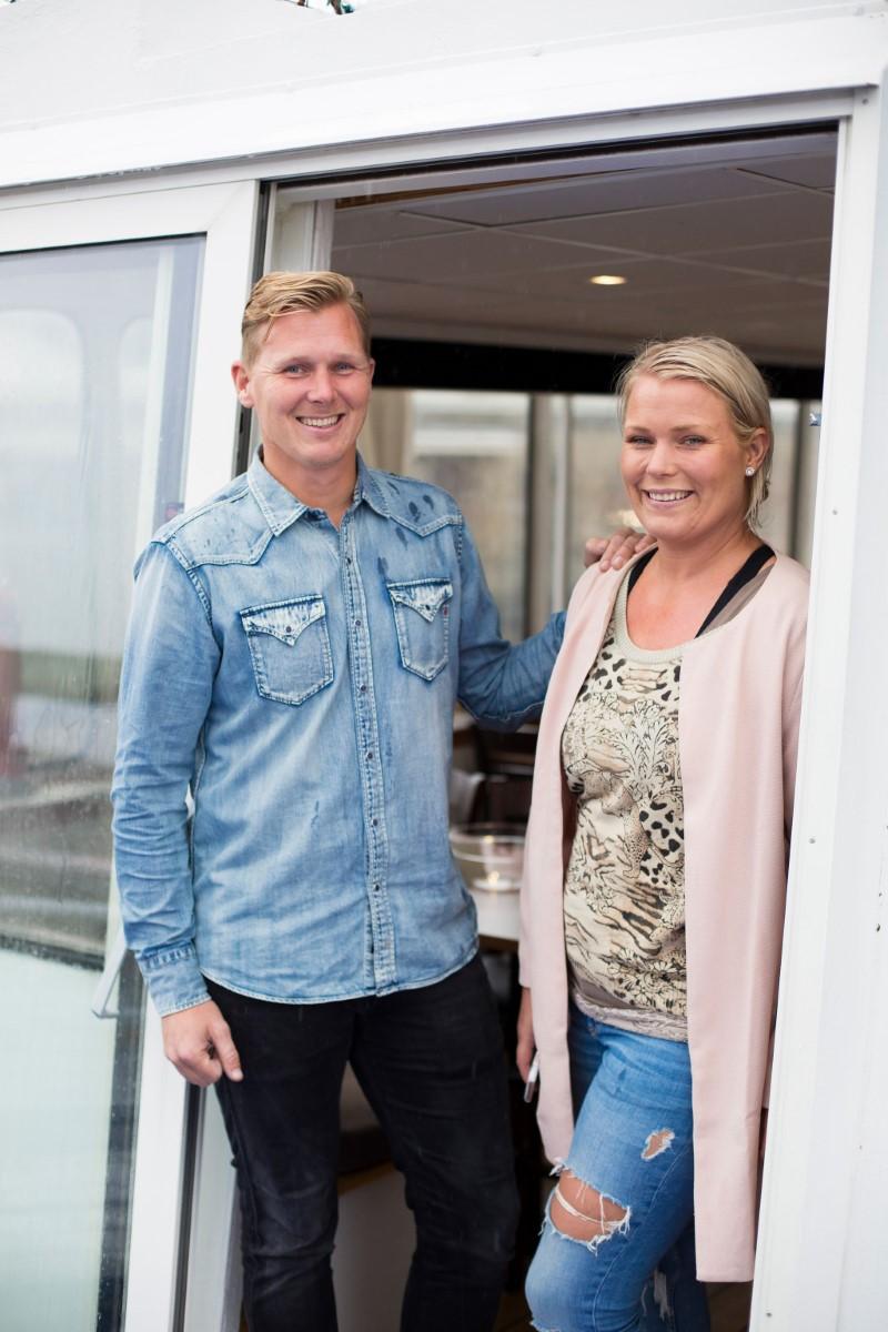 Anders Åman och Annica Cikota Åman på M/S Trubaduren